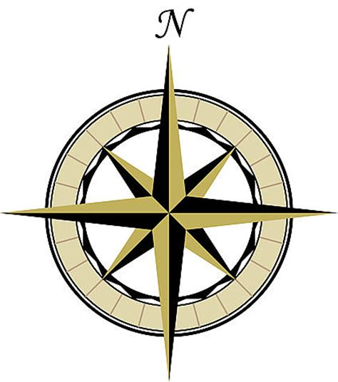 compass tattoo north map compass rose clipart best