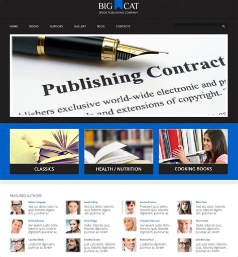 wordpress themes book publishers 13 book publishers author wordpress themes templates