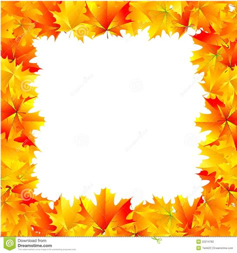 Poster Bingkai Frame Fall Upon autumn frame stock photography image 22214782