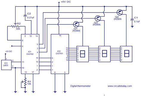 high temperature digital and analogue integrated circuits in silicon carbide digital thermometer circuit based on ca3162 ca3162 and lm35