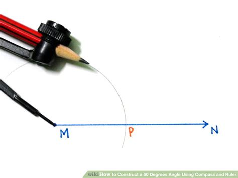 Drawing 60 Degree Angle by How To Construct A 60 Degrees Angle Using Compass And Ruler
