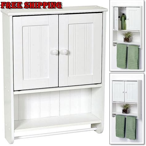 Bathroom Towel Storage Cabinet Cabinet Wall Storage Bathroom Shelf Wood Kitchen Toilet Furniture Towel 2 Door Ebay