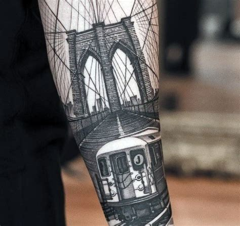 brooklyn tattoos 50 bridge design ideas for architectural ink
