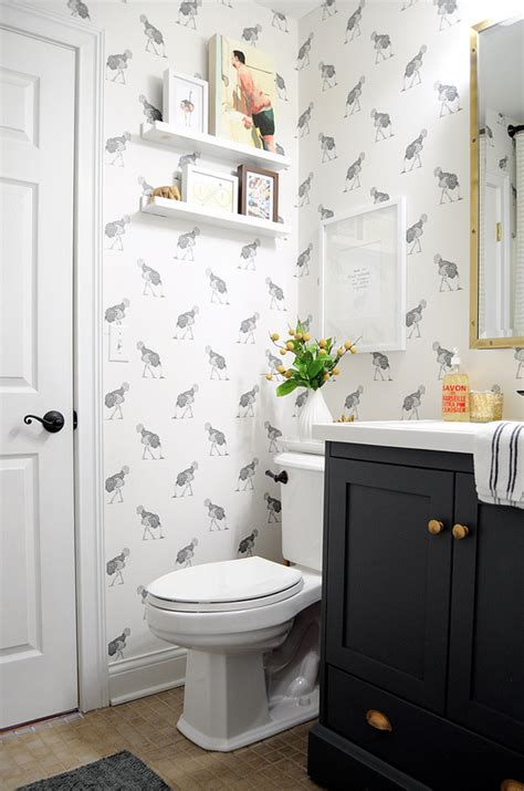 wall paper bathroom wallpaper for the powder room the inspired room