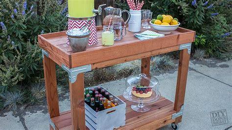 diy bar diy done right indoor outdoor bar cart diy done right