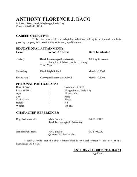application letter for call center fresh graduate sle resume for call center fresh graduate resume