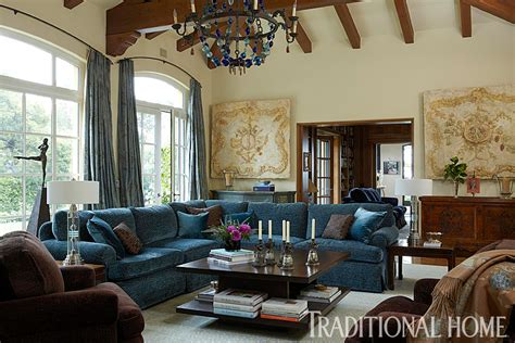 brown and blue living rooms brilliant blue and brown traditional home