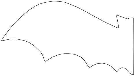 bat template printable bat stencil coolest free