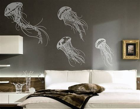 wall adhesive stickers jellyfish wall sticker set contemporary wall stickers