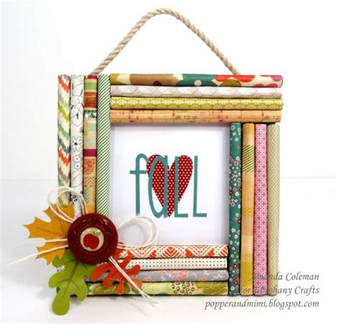 popper and mimi fall decor rolled paper frame