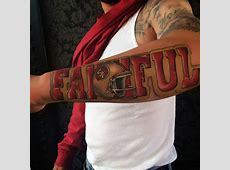 50 San Francisco 49ers Tattoos For Men - Football Design Ideas American Football Tattoos Designs