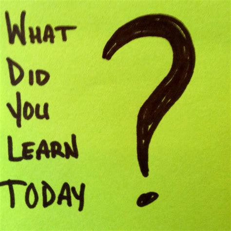 What Did You Will You by What Did You Learn Today