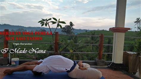 tutorial yoga di rumah gerakan yoga untuk pemula di rumah youtube