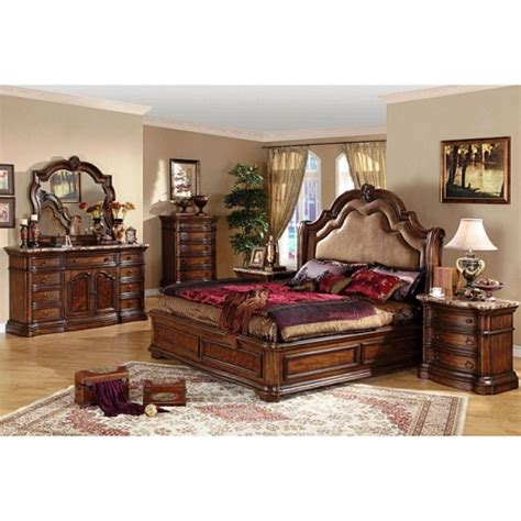 san marino 5 california king size bedroom set by cdecor