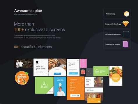 desktop ui themes awesome spice desktop ui kit sketch app by 0effortthemes