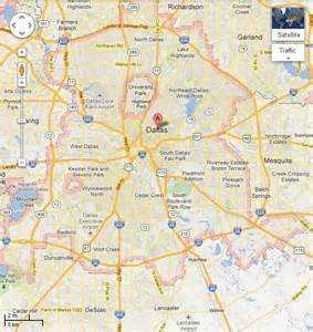 dallas map dallas tx map