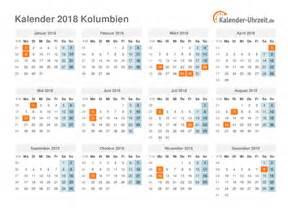Kalender 2018 Mit Feiertagen Feiertage 2018 Kolumbien Kalender 220 Bersicht
