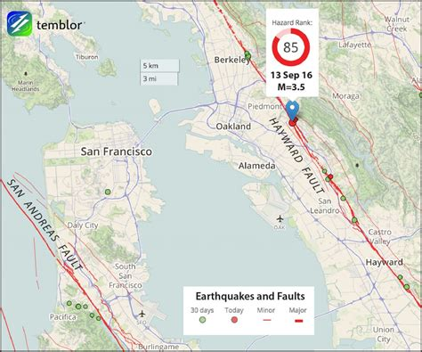 hayward fault map shallow m 3 5 hayward fault earthquake shakes bay area temblor net