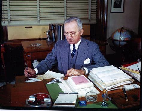 Senate Office Of Records Truman Library Photograph Senator Harry S Truman Seated At His Desk In His Senate Office
