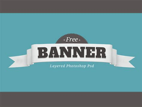 Free Layered Psd Banner Badge By Giallo86 On Deviantart Banner Template Psd