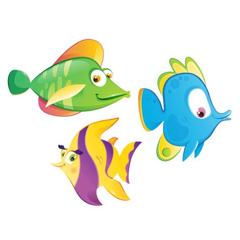 clipart pesce stickers murali camerette bambini adesivi da muro