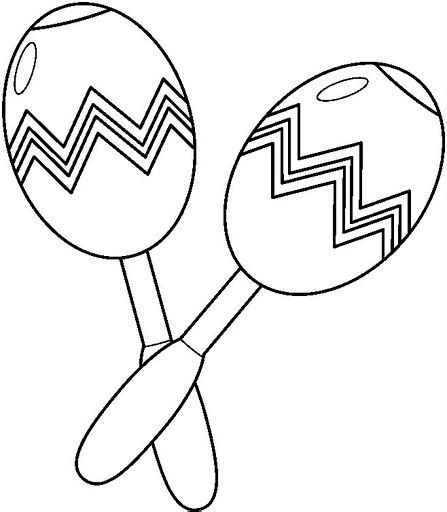 free coloring pages of maraca