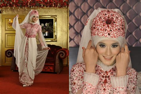 tutorial jilbab ala pengantin model hijab untuk kebaya jawa model kebaya muslim paling