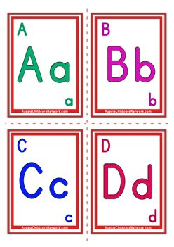 abcd cards template alphabet flashcards classic alphabet letter aussie