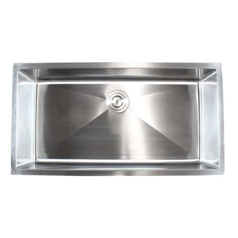 36 In Kitchen Sink Ariel 36 Inch Stainless Steel Undermount Single Bowl Kitchen Sink 15mm Radius Design 16
