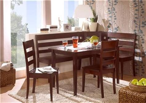 Corner Booth Dining Set Table Kitchen Madrid Espresso Solid Wood Corner Bench Kitchen Booth Breakfast Nook Set Table Ebay