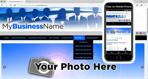 templates for recruitment website recruitment website template with silhouettes of people