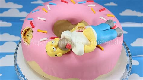 simpsons kuchen simpsons doughnut cake homer kuchen