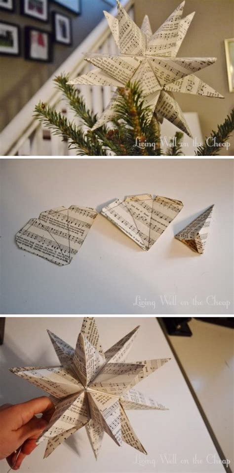 diy xmas tree top star awesome diy tree topper ideas tutorials hative