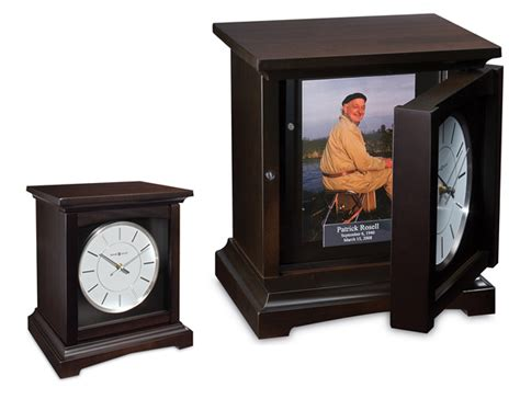 cocoa clock wooden urn michigan funeral and cremation