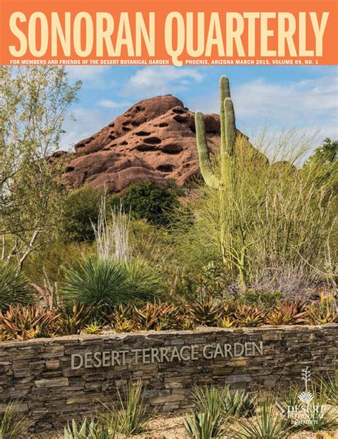 Garden Of Quarterly The Sonoran Quarterly March 2015 Volume 69 No 1 By