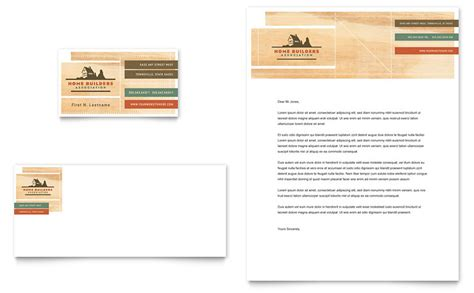 Construction Letterhead Templates home builders construction business card letterhead