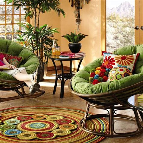 papasan chair in living room 30 cozy ideas for modern home decorating with papasan chairs