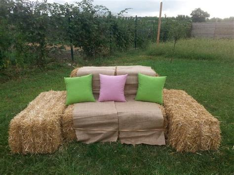 hay bale sofa hay bales of sofa groups in the country wedding
