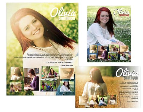 Seniors Ads Yearbook Templates Olivia 14 99 Arc4studio Photoshop Templates For Senior Ad Templates