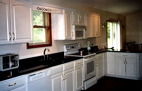 White Kitchen Cabinets With Black Granite Black Cabinets White Granite Pictures Of Kitchens Traditional Black Kitchen Surprising