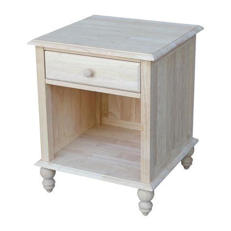 unfinished wood end tables international concepts solano unfinished end table ot 6e