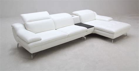 usb couch k1558b modern white full leather sectional sofa w usb and