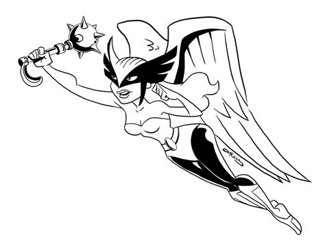 the gallery for gt hawkgirl coloring pages