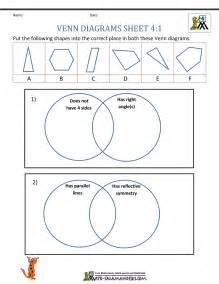 4th grade venn diagram worksheet 4 1
