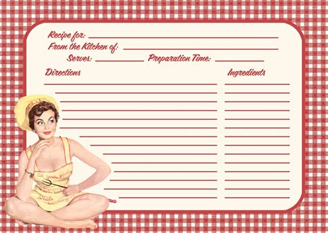 Retro Recipe Cards Vintage Template Free Word by Free Printable Vintage Recipe Cards Blank Car Interior