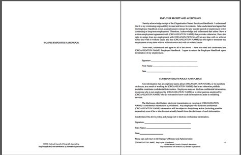 personnel handbook template tri agreement template rental agreement template