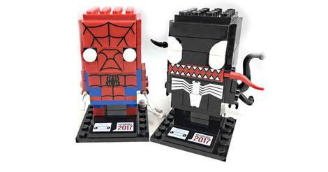 Lego Brickheadz Sdcc 41497 Spider Venom Original 15 16 spider venom lego brickheadz 41497
