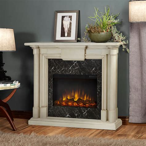 Maxwell Fireplaces maxwell electric fireplace mantel package in whitewash