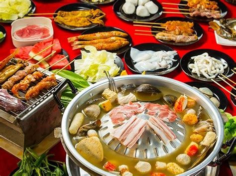 steamboat buffet bbq steamboat buffet at only rm28 chang thai steamboat
