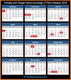And Tobago Calendã 2018 And Tobago Stock Exchange Ttse Holidays 2018